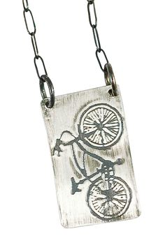 Cruiser Bicycle Necklace Sterling by SidecarSisterDesigns on Etsy, $52.00 Cruiser Bicycle, Bike, Everyday Necklace, Shoulder Bag, Chain, Pendant, Etsy, Jewelry, Bicycle