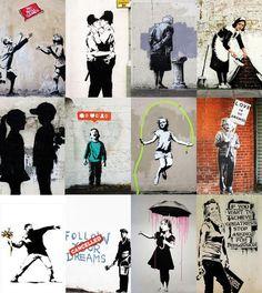 Banksy Graffiti, Arte Banksy, Banksy Artwork, Street Art Banksy, Bansky, Banksy Tattoo, Kalender Design, Pavement Art, Principles Of Art