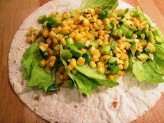 En verden af smag!: Wrap med Majs og Avocado