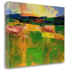 Tangletown Fine Art 'Field 902' by Chance Lee Painting Print on Wrapped Canvas