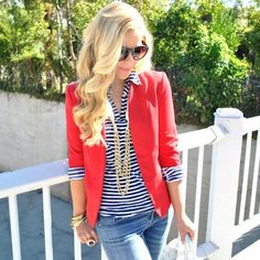 Red Blazer Only worn once! Red blazer by LC Lauren Conrad. LC Lauren Conrad Jackets & Coats Blazers