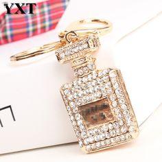 1.96$  Watch here - Elegant Square Perfume Bottle Car Keyring Lovely Hangtag Pendant Women Rhinestone Crystal Purse Bag Key Chain Delicate Gift   #magazineonlinebeautiful
