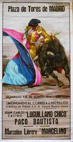 MIMO Libros :: PLAZA DE TOROS DE MADRID. ¡Monumental Corrida de Novillos! Domingo 15 de Marzo 1970