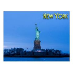 New York City and the Statue of Liberty Postcard - postcard post card postcards unique diy cyo customize personalize