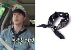 """Seo Kang-Joon 서강준 on """"Roommate"""" Episode 11. Piecemaker Navy Paisley Cotton Bandana #Roommate 룸메이트 #SeoKangJoon"""