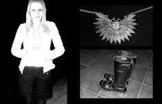 more monochromes, white city - shorts, biker boots, quilted jacket, big bug necklace http://www.greycatte.com/2013/05/more-monochromes-white-city.html