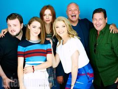 John Bradley, Maisie Williams, Hannah Murray, Natalie Dormer, Conleth Hill, David Nutter, 'Game of Thrones' #EWComicCon Image Credit: Michael Muller for EW