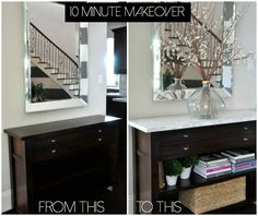 Honey We're Home: Faux Marble Console Makeover