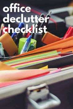 This Craft Room and Office Declutter Checklist and Decluttering Tips post is the of 6 posts to help your successful declutter. It's a Decluttering Scavenger Hunt! Declutter Bedroom, Declutter Your Home, Organizing Your Home, Organizing Ideas, Decluttering Ideas, Minimal Kitchen, Office Organization, Household Items, Easy Diy