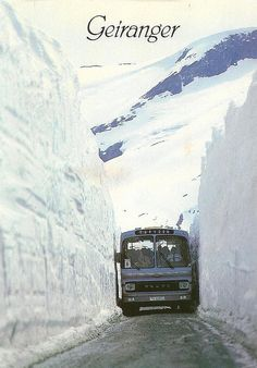 No way would this claustrophobic soul ever been on this road! Geiranger road in June, note to self, don't travel to Norway in JUNE!