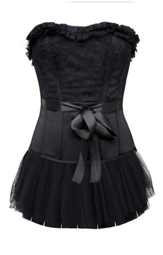Black overbust corset with gorgeous lace overlay to the top half of the garment. Finished off with a lovely black satin bow you can wrap around the middle area. Complete with detachable lace skirt. Corset Noir, Sexy Corset, Overbust Corset, Sexy Halloween Costumes, Halloween Diy, Waist Trainer Corset, Lace Overlay, Dance Wear, Lace Skirt