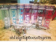 Custom skinny tumblers $10 each discounts for 15 or more