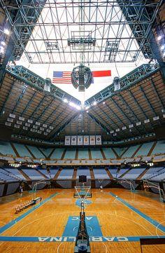 Dean E. Smith Center. Chapel Hill, N.C. University of North Carolina. #Basketball