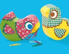 Bricolage : les oiseaux amoureux (pour la fête des mère ou la fête des pères, au choix)
