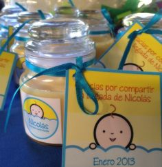 Velas recuerdos Baby Shower