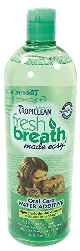 Tropiclean Fresh Breath Plaque Remover Pet Water Additive 338oz -- Check this awesome product by going to the link at the image.