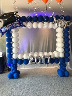 "PHOTO FRAMES - The Balloon People Betallic 45"" Congrats Grad large foil shape."