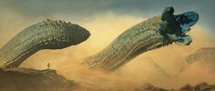 Dune Worms by Peter Konig