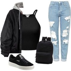 Teenage Girl Outfits, Girls Fashion Clothes, Teenager Outfits, Teen Fashion Outfits, Retro Outfits, Mode Outfits, Outfits For Teens, Teen Clothing, Vintage Hipster Outfits