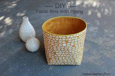 DIY.. Storage Bins With Piping Trim | Haberdashery Fun