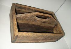 Vintage Old Wooden Tool Box picclick.com