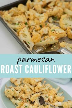 Delicious parmesan roast cauliflower, an easy recipe that takes cauliflower to the next level. #cauliflower #ketorecipes #roastcauliflower