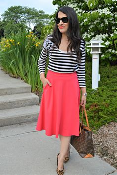 Sailor Stripes Sailor, Midi Skirt, Stripes, Skirts, Blog, Vintage, Style, Fashion, Moda