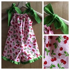 Life is a bowl of cherries!  This 2t Pillowcase Shorts Romper is ready for summer fun!