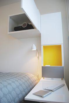 IKEA BESTA home cinema nightstand - cupboard between the studs in a wall?