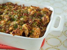 Loaded out cheesy, chicken, and potato casserole is as easy as 1-2-3. For lighter and more sensitive palates, reduce the hot sauce measurement by half.