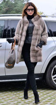 Новый 2016 palomino Королевский Сага норковая шуба класс куртка шиншилла соболь лиса