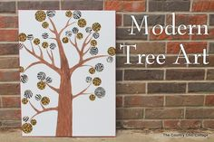 DIY Wine and Canvas night! DIY Modern Tree Art -- make your own modern wall art with a few supplies! A great safari themed way to liven up any room! Family Subway Art, Baby Subway Art, Diy Wall Art, Modern Wall Art, Diy Art, Diy Canvas, Canvas Wall Art, Empty Canvas, Painted Canvas