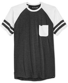 Hurley Waylon Stripe Raglan-Sleeve Pocket T-Shirt