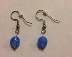 Single bead dangle earrings
