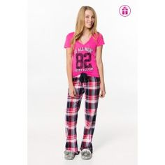 Pink & purple Up all night 82 PJ set New Trends, Latest Trends, Girl Outfits, Fashion Outfits, Womens Fashion, Pj Sets, Pink Purple, Flannel, Pajama Pants