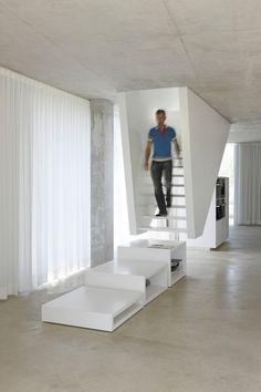 stairs escaleras con ultimos peldaños modulos en un Projects - Wiel Arets Architects