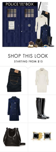 """""""Wibbly Wobbly Timey Wimey"""" by ameve ❤ liked on Polyvore featuring Abercrombie & Fitch, Rick Owens, Gucci, Burberry, Rachael Ruddick, Manumit and Bling Jewelry"""