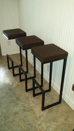 "32""x14""x12"" bar stool, modern bar stool, cool stool, counter stool, seat, chair, designer bar stool, kitchen stool, welded bar stool, steel."