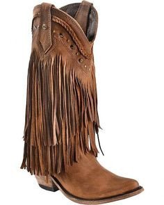 Cowboy boots with fringe