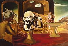 """Saatchi Art Artist Svetà Art; Painting, """"Dali's Voltaire Invisible Bust  Apparition From Slave marcket """" #art"""