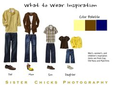 What to wear for family photos Color Palette