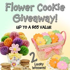 Win 1 of 2 Flower Cookie Gift Baskets to celebrate spring Cookie Gift Baskets, Cookie Gifts, I Want Food, Dong Hae, Flower Cookies, Recipe Sites, Recipe Of The Day, Just Desserts, Giveaway