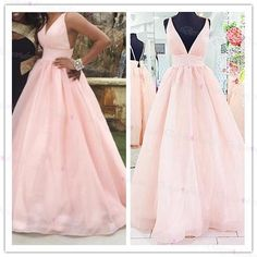 Victorian Deep V Neck Ball Dresses African Prom Dresses With Open Back Empire Waist Floor Length Hot Pink Dresses Party Evening Formal Gowns Ball Gowns Long Dresses From Angelsbridep, $113.09| Dhgate.Com