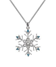 Another great find on #zulily! Blue Diamond & Sterling Silver Snowflake Pendant Necklace #zulilyfinds