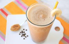 """Gotta Be Smooth Smoothie:  Cleaned-Up PB-Chocolate Smoothie!  """"Chocolatey peanut-butter smoothies are delicious but dangerous... They're like drinkable peanut-butter cups! We reformulated Jamba Juice's beloved version, and dare we say, ours is better. It's insanely decadent and packed with protein."""""""