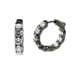 Picture of Biggest Diamond Hoop Earring