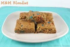 M&M Blondies #Baking Ideas #shop #cbias