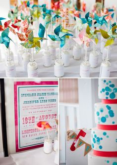 lighthouse-point-park-wedding-06    make these for the kids? Wedding News, Wedding Stuff, Dream Wedding, Pinwheel Wedding, Party Themes, Party Ideas, Year 6, Vintage Carnival, Whimsical Wedding