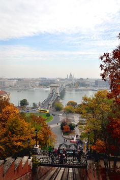 View from the top end of the funicular. #Budapest #Hungary