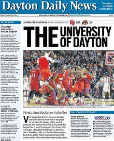 Dayton Daily News Mocks Ohio State with 'THE University of Dayton' Headline After Flyers' NCAA Win Over Buckeyes College Fun, College Life, Ohio State Basketball, College Basketball, Dayton Flyers, Dayton Ohio, Basketball Games Online, Fantasy Basketball, University Of Dayton